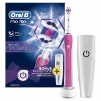 Periuta electrica Oral B Pro 750 3D, duritate medie, cutie transport inclusa