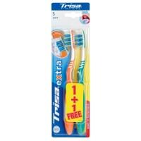 Periute de dinti Trisa Extra Duo Soft, dispozitiv curatare limba inclus