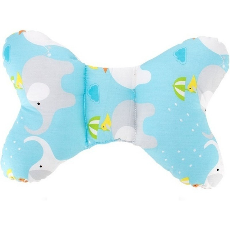 Perna bebelusi Butterfly Bambinice Elephant, 35 x 23 x 5 cm, Albastru 2021 shopu.ro