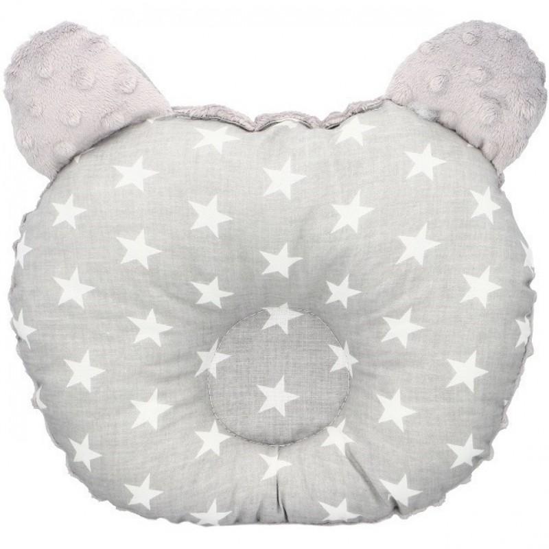 Perna bebelusi Minky Infantilo, 27 x 26 cm, bumbac, 0 luni+, model stelute, Gri