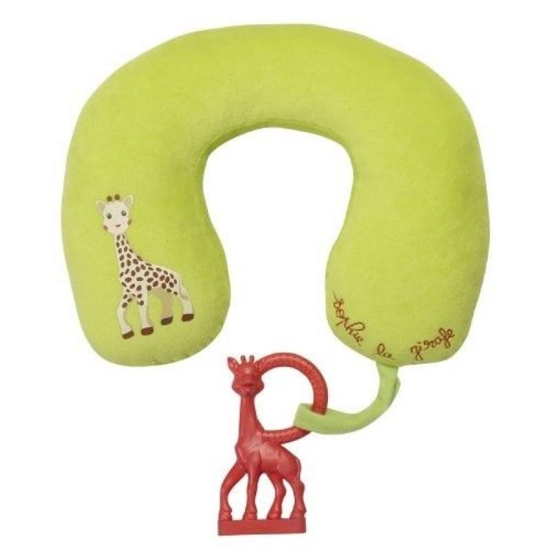 Perna de gat cu inel dentitie girafa Sophie Vulli, poliester, cauciuc natural, 0 luni+ 2021 shopu.ro