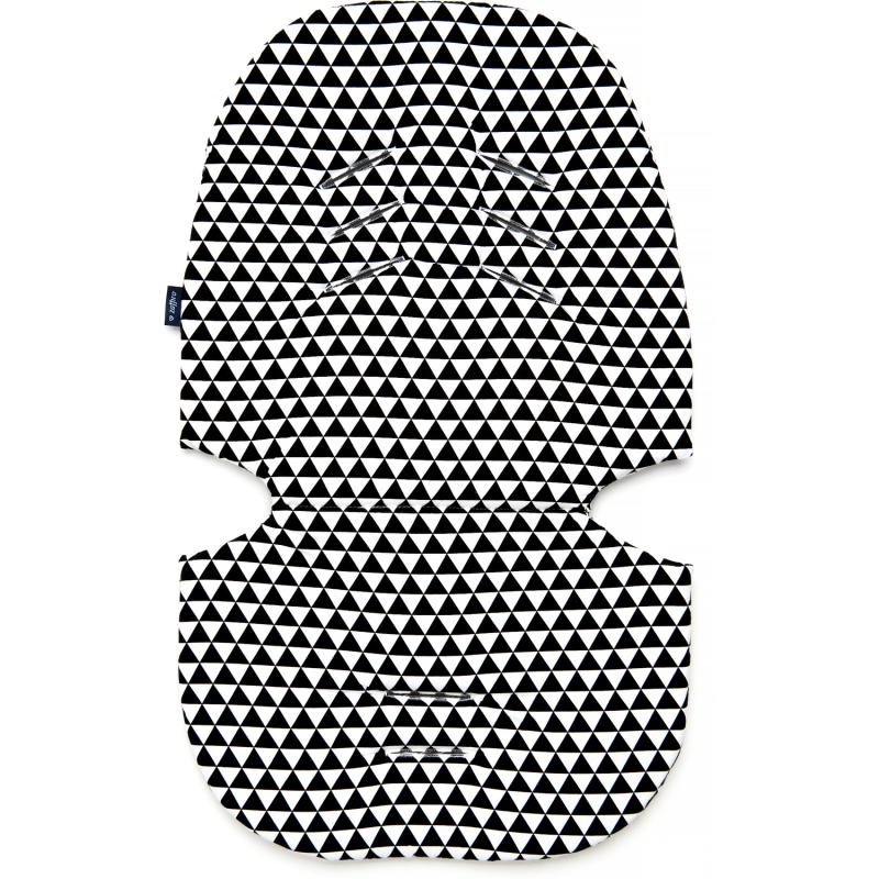 Perna pentru carucior N3 Bumbac Womar Zaffiro, model universal, Negru/Alb 2021 shopu.ro