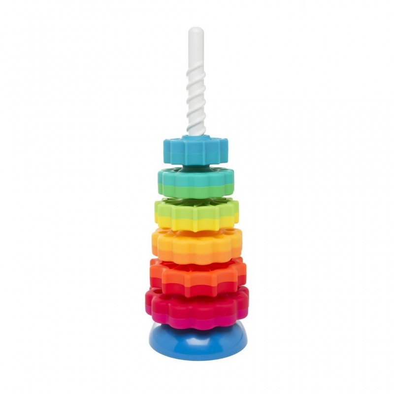 Piramida cu rotite pentru bebelusi Fat Brain Toys, 6 rotite 2021 shopu.ro