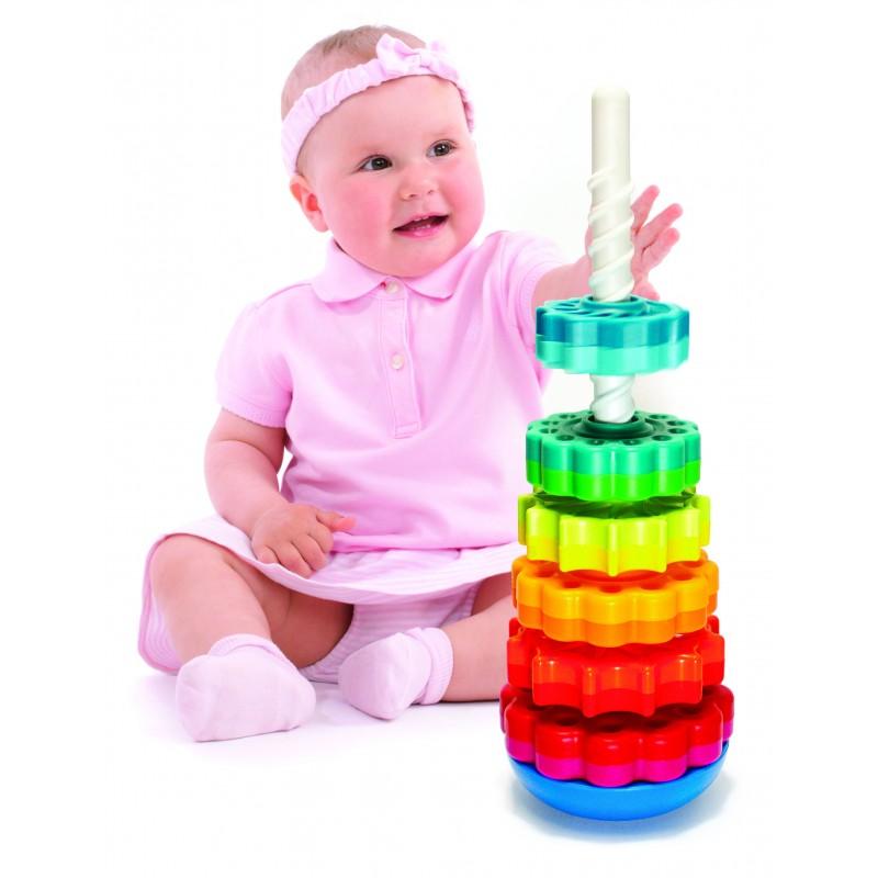 piramida cu rotite pentru bebelusi fat brain toys 6 rotite ieftin vezi pret shopu black friday. Black Bedroom Furniture Sets. Home Design Ideas