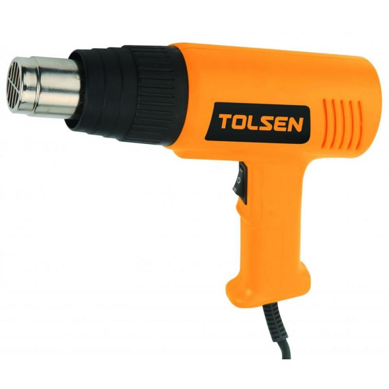 Pistol pentru aer cald Tolsen, 2000 W, Galben/Negru 2021 shopu.ro