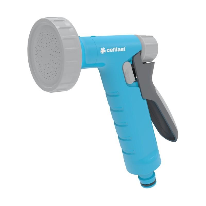 Pistol pentru stropit Cellfast Shower 2 Ideal, 6 bari, debit reglabil, sistem de blocare, Albastru shopu.ro