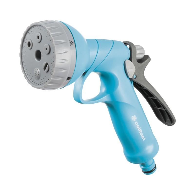 Pistol pentru stropit Cellfast Shower Ideal, 6 bari, debit reglabil, sistem de blocare, Albastru shopu.ro