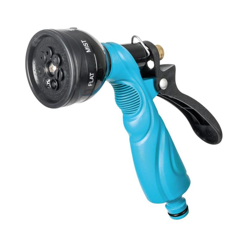 Pistol pentru stropit Cellfast Basic, 7 functii, debit reglabil, sistem blocare, metal, Albastru 2021 shopu.ro