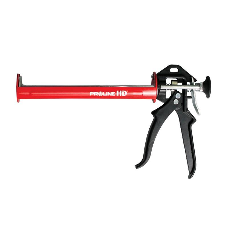 Pistol pentru silicon HD Proline, 225 mm, cadru otel, maner aluminiu shopu.ro