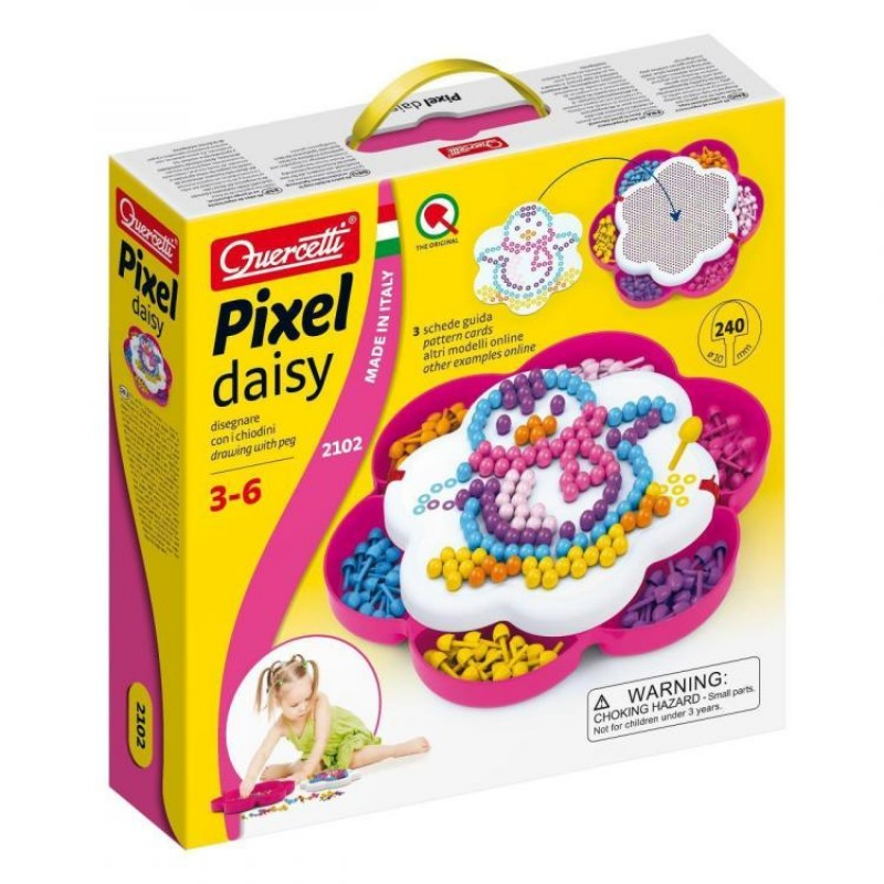 Pixel Daisy Quercetti, 240 piese, 3 ani+