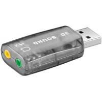 Placa sunet pentru PC Goobay, USB 2.0, A tata, stereo