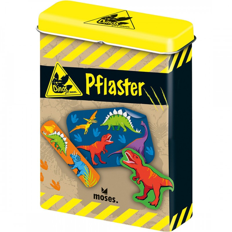 Plasturi Dinozauri Moses, 20 bucati, cutie metalica 2021 shopu.ro
