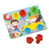 Joc Play Lab Montessori Quercetti, 4 planse, 3 ani+