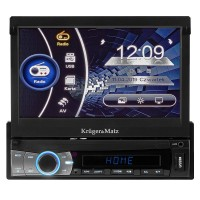Player auto Kruger Matz, 1 DIN, Bluetooth, USB, SD, AUX, GPS, FM