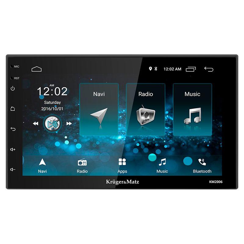 Player auto Kruger Matz, 2 DIN, Android 8.1, comenzi pe volan, microfon, EasyConnection 2021 shopu.ro