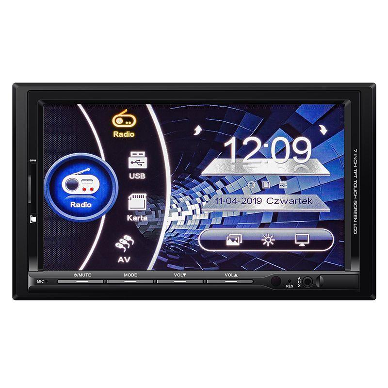 Player auto Kruger Matz, 2 DIN, Bluetooth, USB, AUX, GPS, FM 2021 shopu.ro