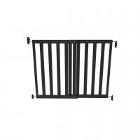 Poarta de siguranta extensibila Noma, 64–100 cm, lemn negru