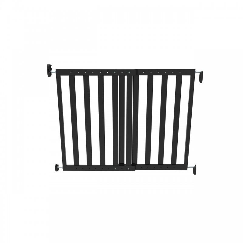 Poarta de siguranta extensibila Noma, 64–100 cm, lemn negru 2021 shopu.ro
