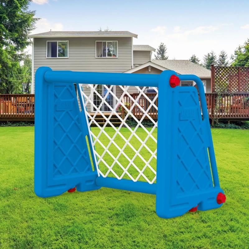 Poarta fotbal pentru copii, usor de asamblat, 75 x 100 x 55 cm, Albastra 2021 shopu.ro