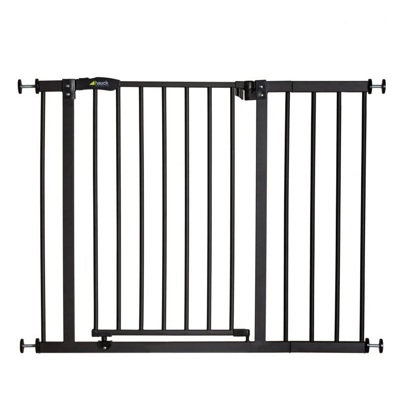 Poarta siguranta cu Extensie Close'n Stop + 21 cm Charcoal, 75 - 101 cm imagine