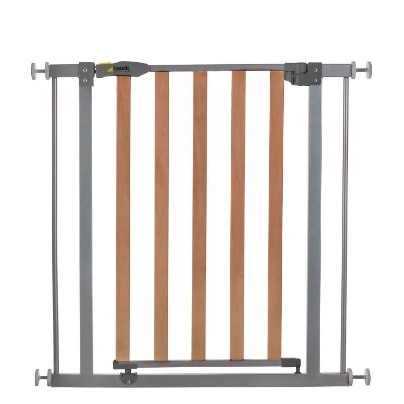 Poarta Siguranta Hauck Wood Lock Safety Gate/Silver, 75-80 cm 2021 shopu.ro