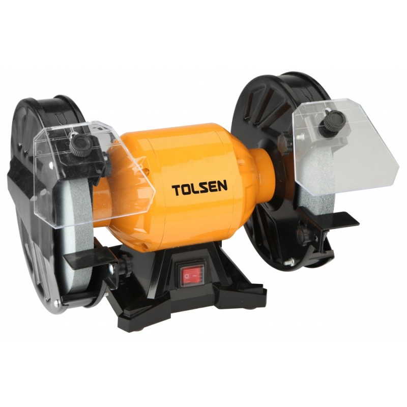 Polizor de banc Tolsen, 150 W, 2950 rpm, diametru disc 150 mm 2021 shopu.ro
