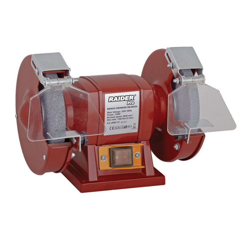 Polizor de banc Raider, 250 W, 2950 rpm, disc 150 х 12.7 х 16 mm 2021 shopu.ro