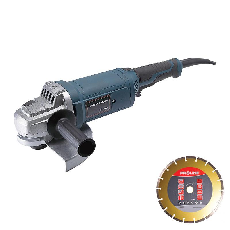 Polizor unghiular Tryton, 2350 W, 230 mm, 6000 rpm, geanta inclusa shopu.ro