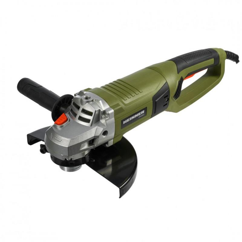 Polizor unghiular Heinner, 2100 W, 6500 pm, 230 mm, motor cupru, ax M14, Verde shopu.ro