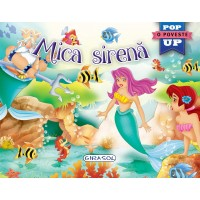 Carte tip pop-up Mica sirena Girasol, 10 pagini, 5 x pop-up, 3 ani+