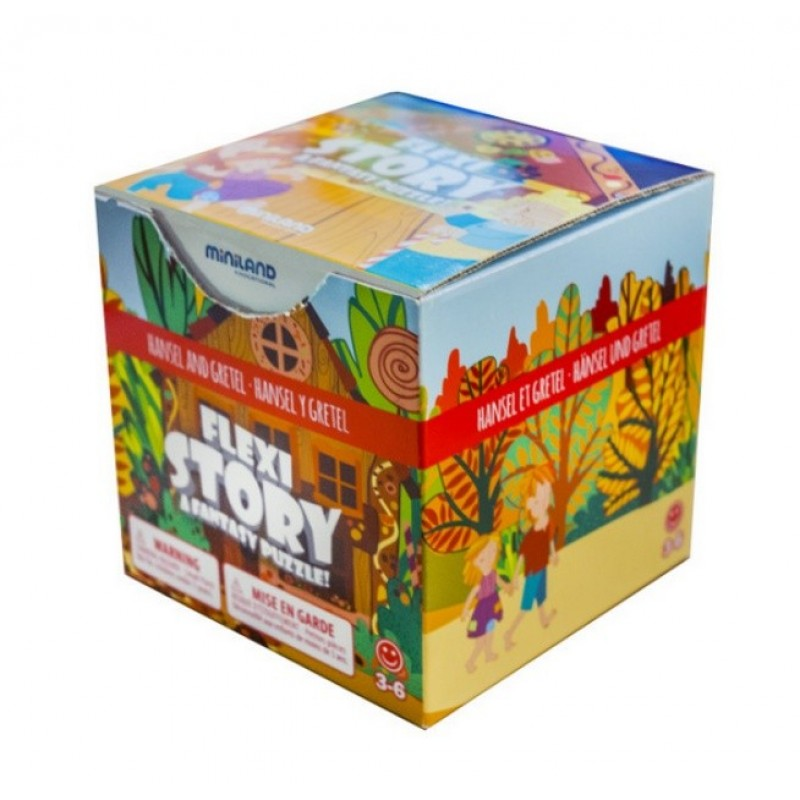Joc puzzle poveste Hansel si Gretel Miniland, 7 piese flexibile 2021 shopu.ro