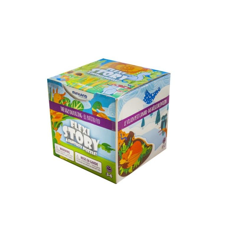 Puzzle Ratusca cea urata Miniland, 7 piese flexibile 2021 shopu.ro