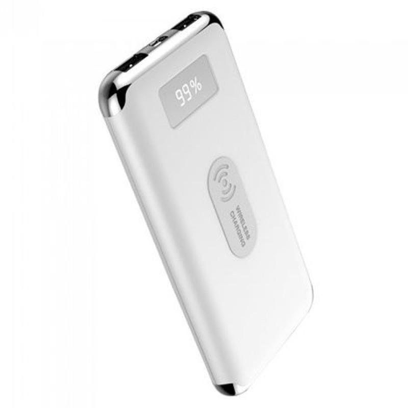 Baterie externa, 10000 mAh, 2 x USB, Alb