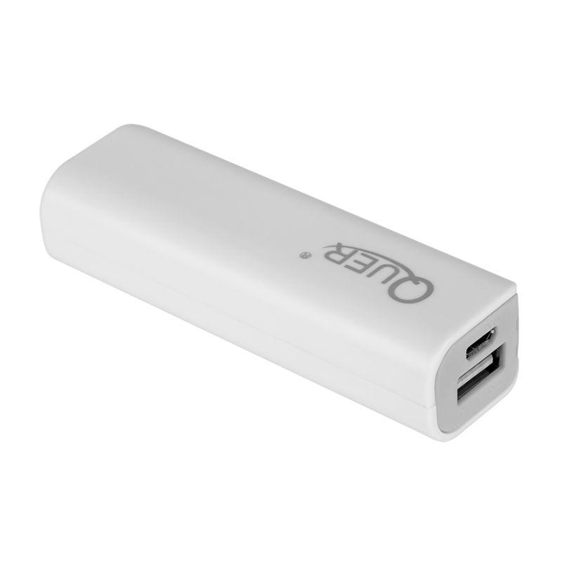 Baterie externa Quer, 2000 mAh, USB, Alb 2021 shopu.ro