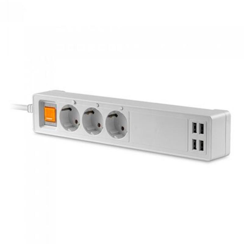 Prelungitor smart, 1.8 m, 3 cai, 4 USB, 3500 W shopu.ro