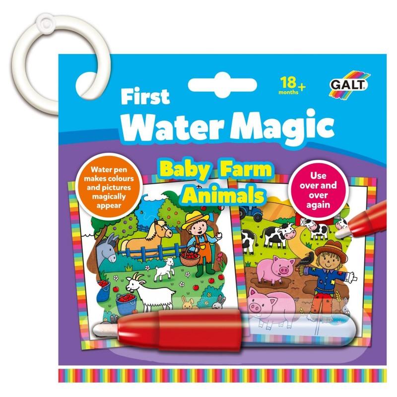 Jucarie interactiva carticica Water Magic Animalutele de la ferma Galt, 18 x 18 cm, 6 imagini, 18 luni+ 2021 shopu.ro