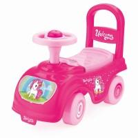 Prima mea masinuta Unicorn, volan, spatar, spatiu de depozitare sub scaun, 37.5 x 48.5 x 22 cm