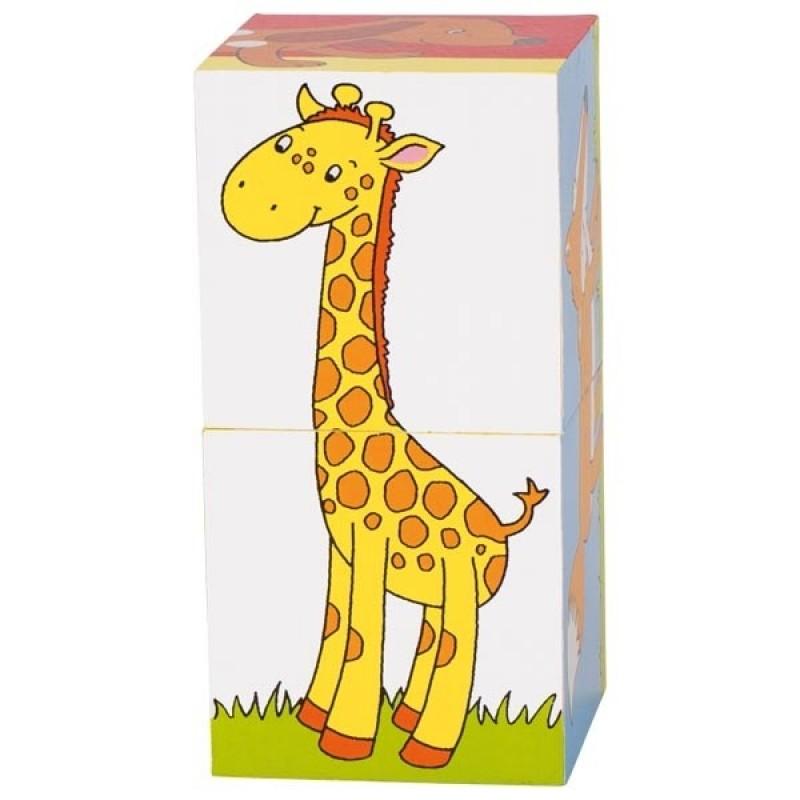 Primele mele cuburi Animale Prietenoase, 2 cuburi, 6 animalute incluse 2021 shopu.ro