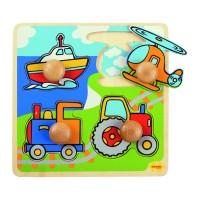 Primul meu puzzle 4 mijloace de transport, 20 x 20 cm