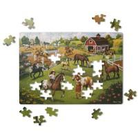 Puzzle carton Calutii Melissa & Doug, 100 piese, 6 ani+