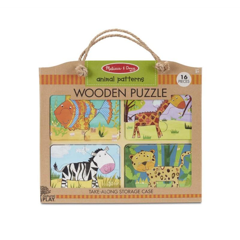 Puzzle lemn Animalele Melissa & Doug, 16 piese, 2 ani+