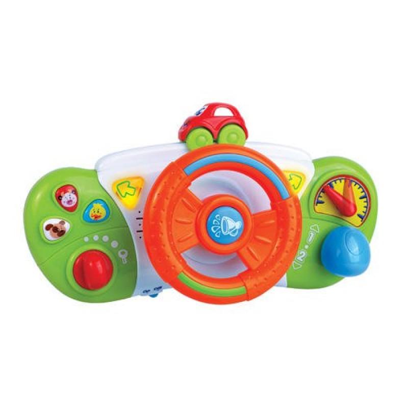 Jucarie pentru bebelusi Primul meu volan cu sunete, 2 x AA 2021 shopu.ro