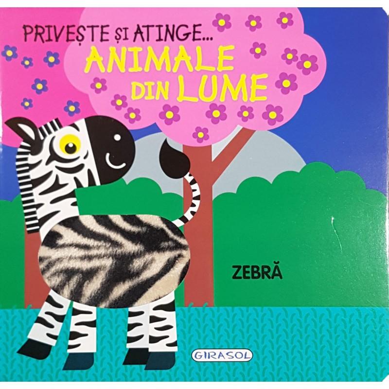 Carte Priveste si atinge animale din lume Girasol, 8 pagini, 12 luni+ 2021 shopu.ro