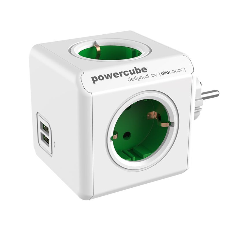 Priza Power Cube, 2 x USB, 4 Schuko, 16 A 2021 shopu.ro