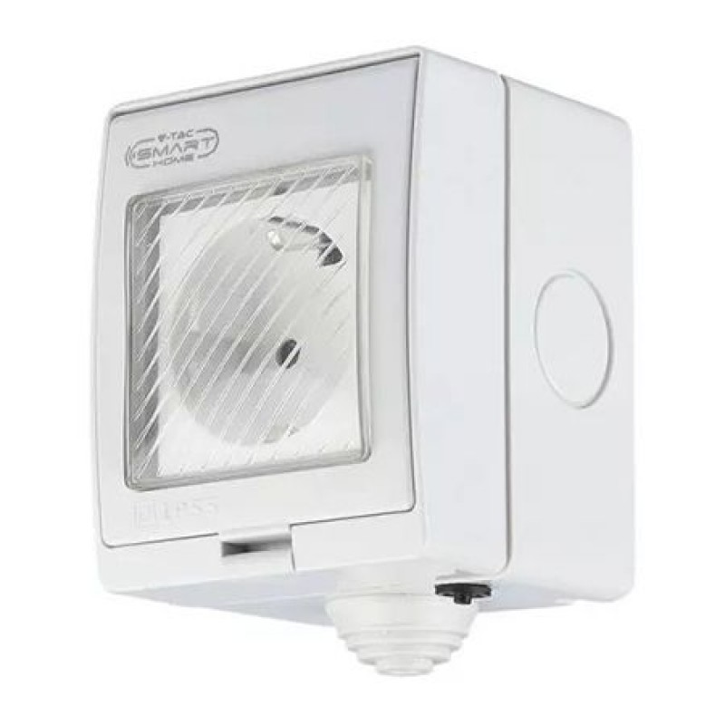 Priza smart, 220 W, Wi-Fi, policarbonat, protectie supratensiune, Alb 2021 shopu.ro