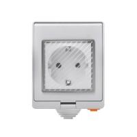 Priza Smart Sonoff S55 pentru exterior, temporizator, control de la distanta