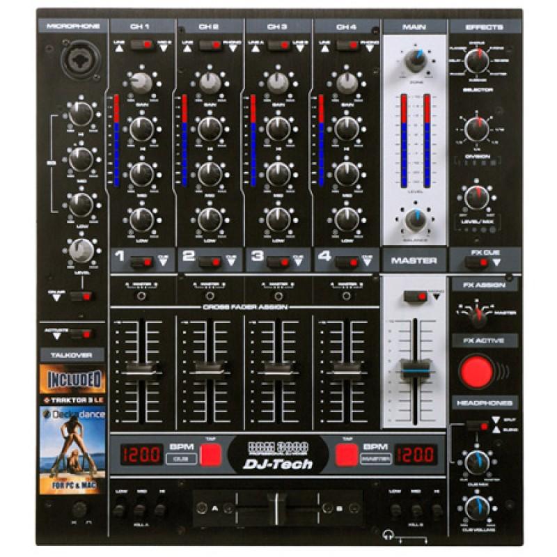 Mixer DJ Tech Professional, 5 canale, contro BPM, egalizator 3 benzi 2021 shopu.ro