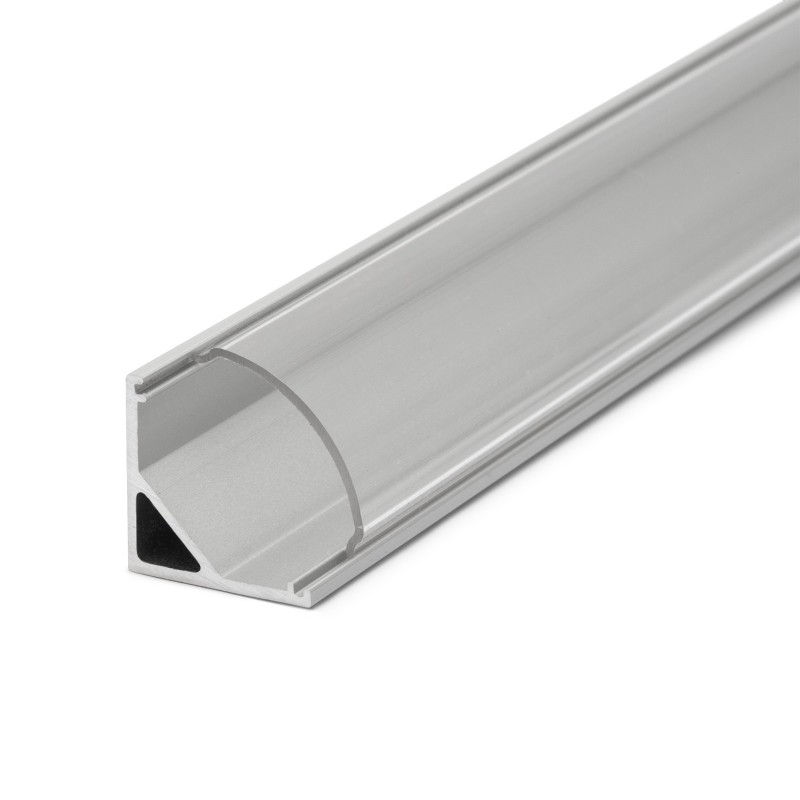 Profil rotunjit pentru benzi LED, 2000 x 16 x 16 mm, aluminiu shopu.ro
