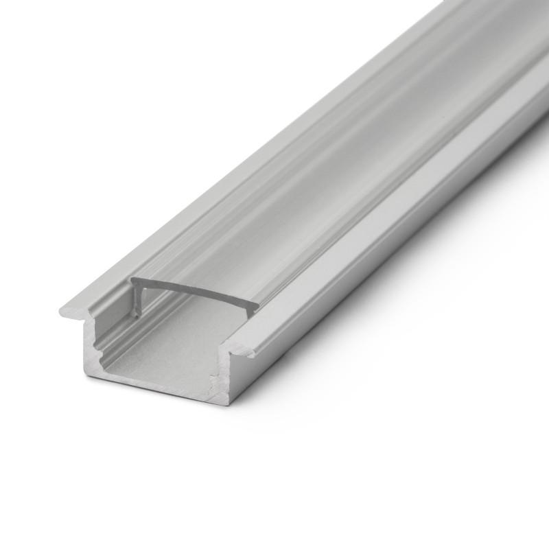 Profil pentru benzi LED, 2000 x 23 x 8 mm, aluminiu, tip U shopu.ro