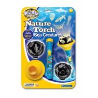 Proiector animale marine Brainstorm Toys, 10 imagini, Albastru/Galben